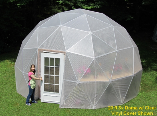 16 Ft 3v Geodesic Dome Greenhouse Kits